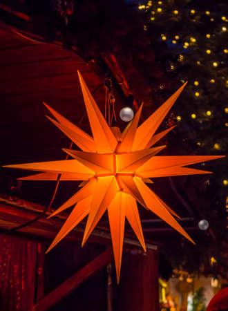 shining star on the Christmas market