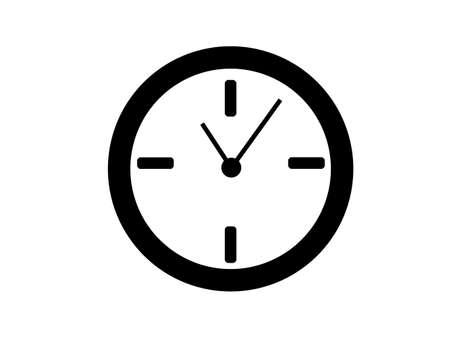 Clock icon isolated on white background Standard-Bild