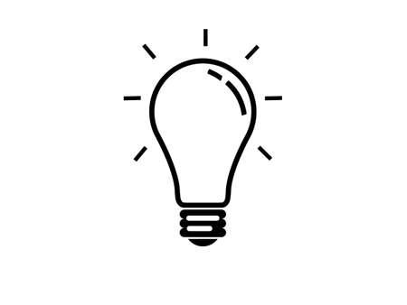 Light bulb idea isolated on white background