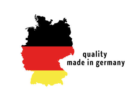 Germany map vector isolated on white background 版權商用圖片