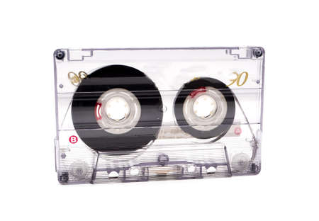 Old cassette isolated on white background
