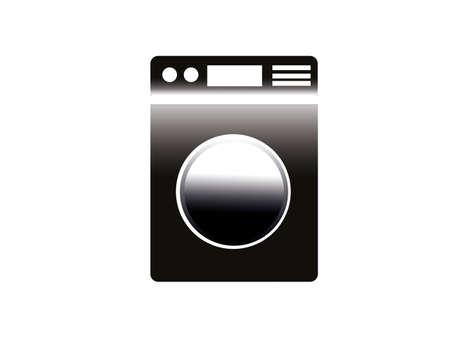 Washing machine vector isolated on white background