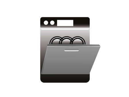 Dishwasher vector isolated on white background