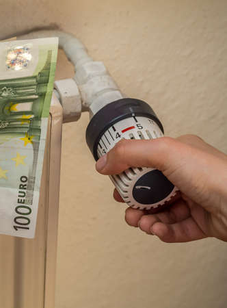 Heating and euro bills for heating costs