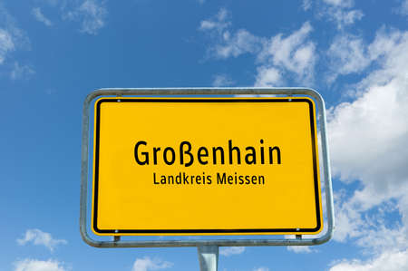 Entrance sign to Großenhain in Saxony