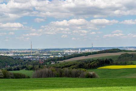 Skyline from Chemnitz in East Germany