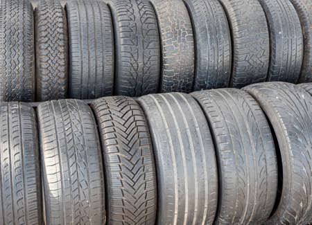 various car tires with profile