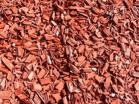 Red bark mulch background texture 免版税图像