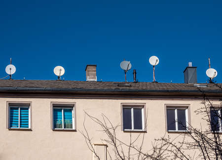 many satellite systems on the roof