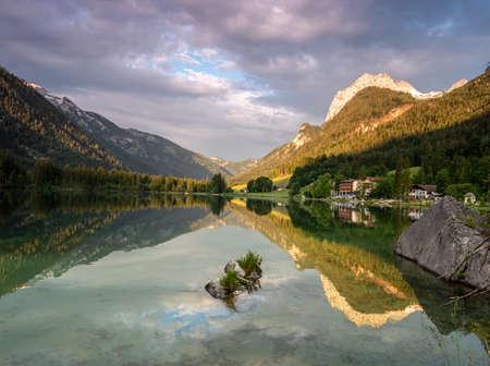 evening atmosphere at the Hintersee in Ramsau Berchtesgadener Land