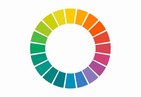 Color wheel spectrum isolated on white background 免版税图像