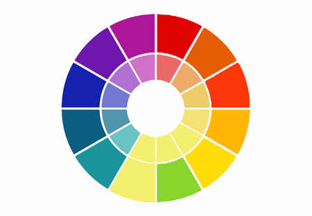 Color wheel scala isolated on white background