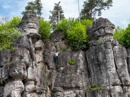 Rock wall for climbing in Franconian Switzerland
