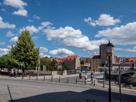 Old town of Goerlitz in Saxony with a view of Poland