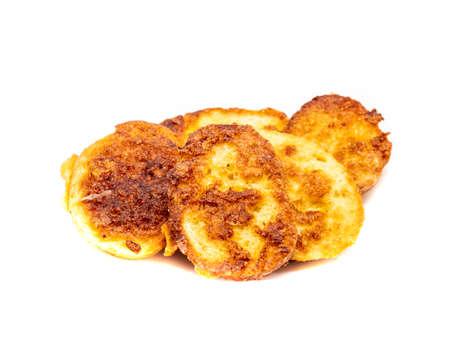 fried french toast isolated on white background