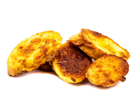 French toast isolated on white background