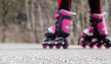 Panorama inline skating focus speed