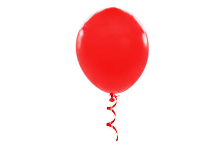 Red air balloon isolated on white background Standard-Bild