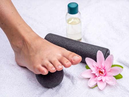 Reflexology with a massage ball