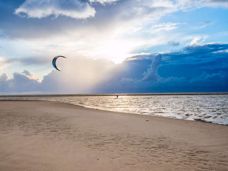 Kitesurfer in St. Peter-Ording North sea