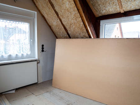 Expansion of an attic with drywall