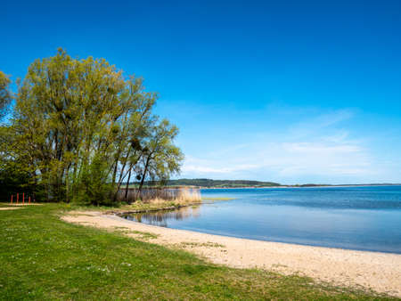Kummerower See on the Mecklenburg Lake District in Germany