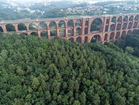 Aerial photos of the Goeltzschtalbruecke in Vogtland