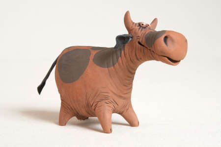 earthenware: clay cow