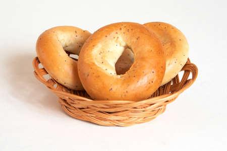 boublik: bagel in crib Stock Photo