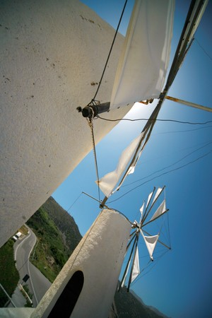Crete. Lasithi plateau. Windmills.