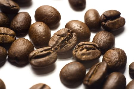 Coffee beans, close-up. Stock Photo