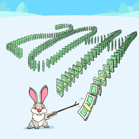 domino effect: Rabbit is starting the domino effect of money