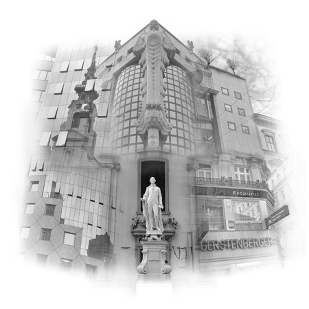 Vienna, town of Haydn Stock Photo