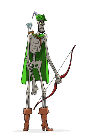 Robin Hood in Lincoln green clothes.