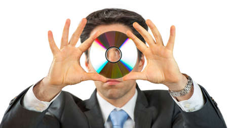 Business Man with CD photo