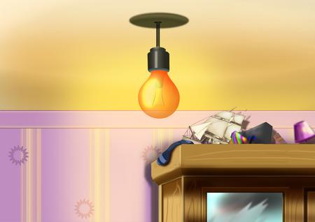 brightly: Lamp shines brightly