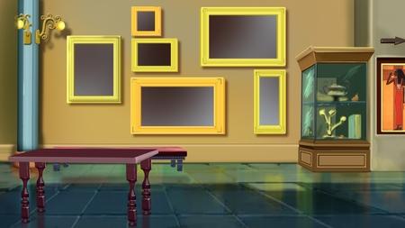 museum interior Imagens