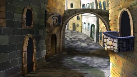 Die Straße in der Altstadt