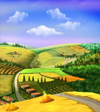 rural: rural landscape