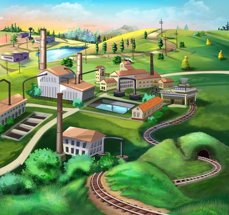 paesaggio industriale: Panorama industriale.