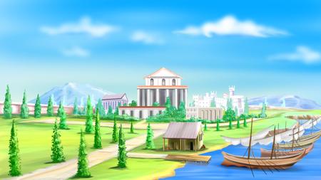 古代都市の眺め