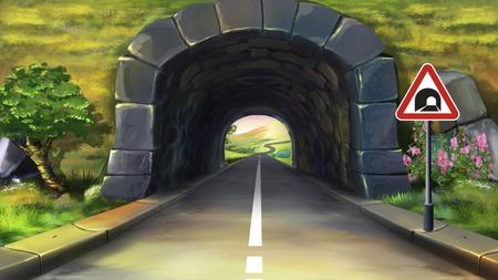 tunel: túnel de montaña