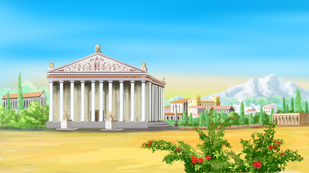 Ancient Greek Temple Imagens