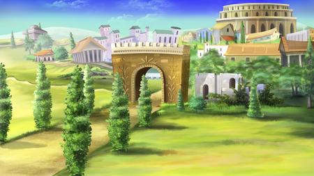 roma antigua: La Roma antigua y el Coliseo