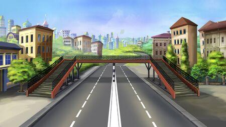 senda peatonal: paso de peatones en una ciudad - 3