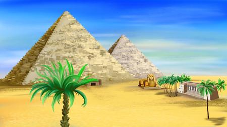 egyptian pyramids: egyptian pyramids Stock Photo