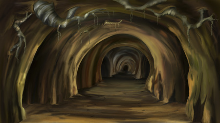 a cave: Mysterious cave