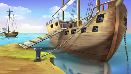 海賊船 写真素材