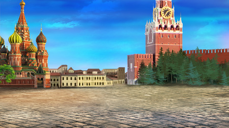 red square moscow: Red square. Moscow Kremlin Stock Photo