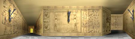 エジプトの象形文字の図 写真素材